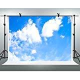 Nature Landscape背景FHzON 10x 7ftホワイトクラウドブルースカイフォトグラフィ背景壁紙装飾for Baby部屋ビデオProps lxfh269