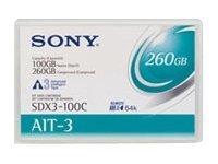 1pk Ait3 8mm 230m 100/260gb Mic Tape Cartridge Sdx3100c//Aww by Sony -Media [並行輸入品]