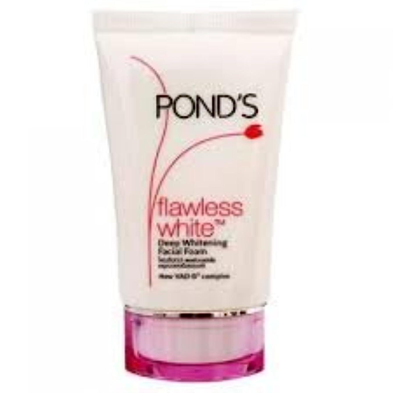 安心させるマーキング首ポンズ フローレス ホワイトニング フェイシャルフォーム Ponds Flawless White Deep Whitening Facial Foam 50g