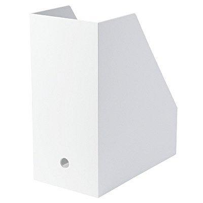 ポリプロピレンスタンドファイルボックス・ワイド・A4用・ホワイトグレー 無印良品