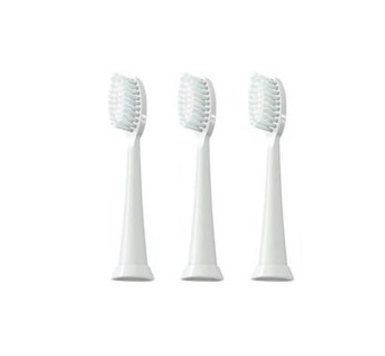予約極めて石油TAO Clean 電動歯ブラシ用【替えブラシ 3本セット】(ホワイト)通常はメール便にて発送します。