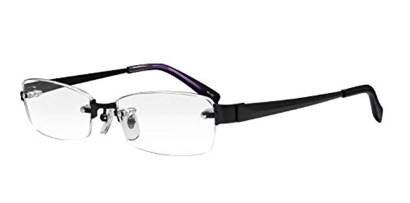 社会主義者きしむ測る鯖江ワークス(SABAE WORKS) 老眼鏡 ブルーカット フチなし ML100C4 +1.00