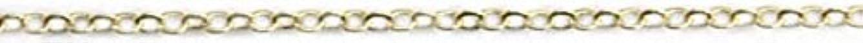 割る根拠暖かくプリティーネイル ネイルアートパーツ ツイストチェーンSS ゴールド 1m 1個