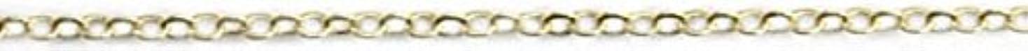 パイルカバレッジブラシプリティーネイル ネイルアートパーツ ツイストチェーンSS ゴールド 1m 1個