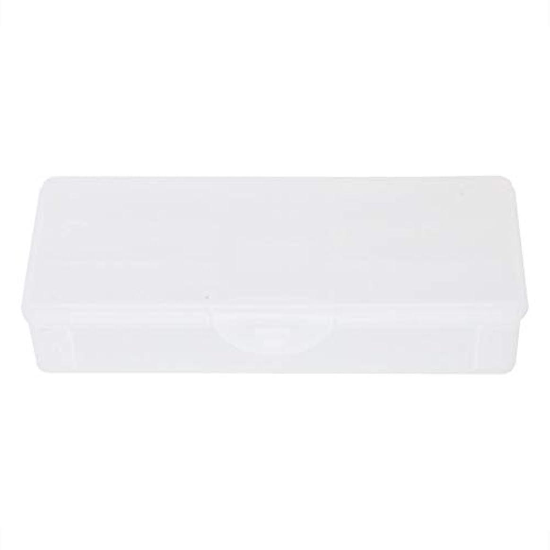 ポータブルプラスチック透明二重層マニキュアネイルツール-空の収納ボックスケースコンテナオーガナイザー