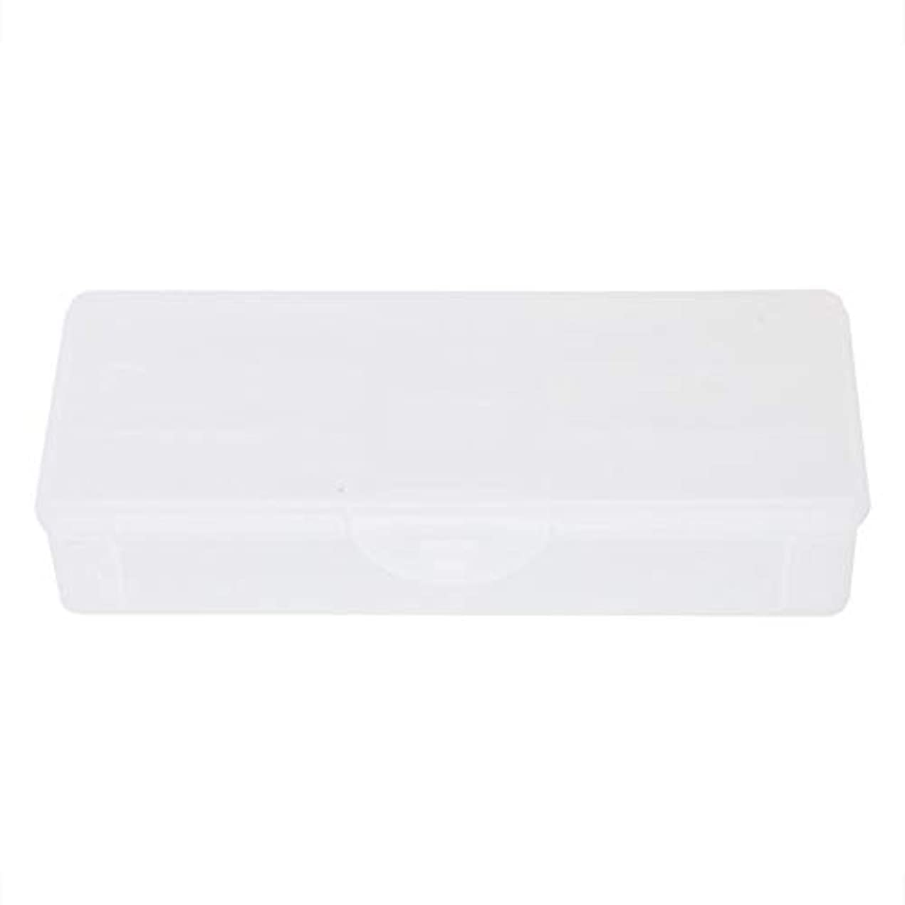 排泄物微弱可愛いポータブルプラスチック透明二重層マニキュアネイルツール-空の収納ボックスケースコンテナオーガナイザー