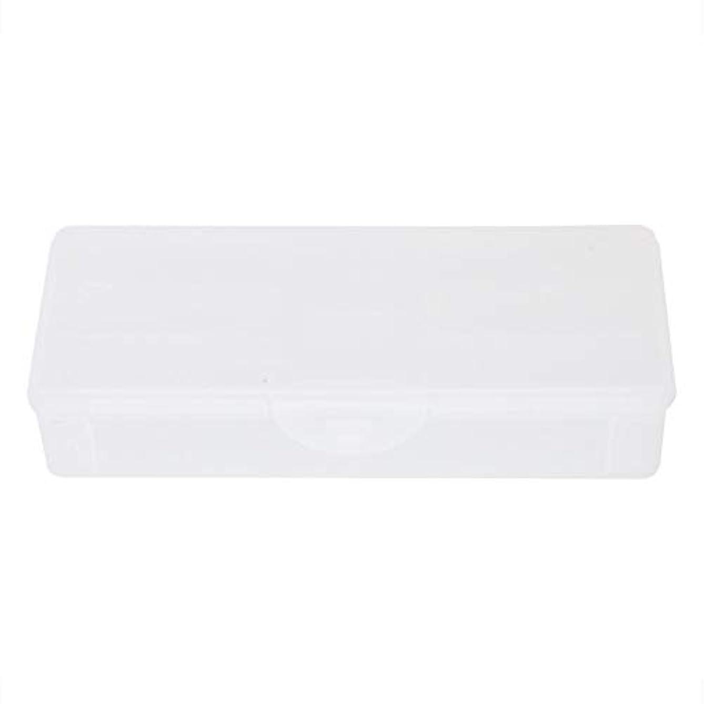あいまいさ効率セラーポータブルプラスチック透明二重層マニキュアネイルツール-空の収納ボックスケースコンテナオーガナイザー