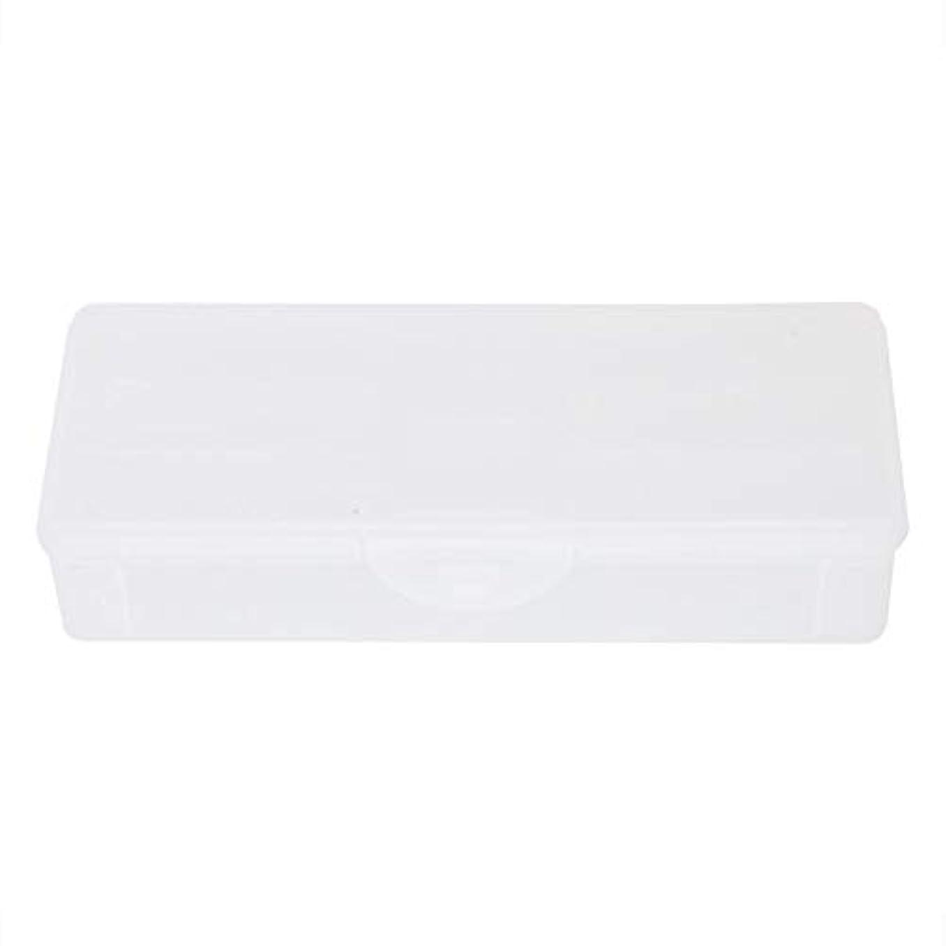 承認程度粒ポータブルプラスチック透明二重層マニキュアネイルツール-空の収納ボックスケースコンテナオーガナイザー
