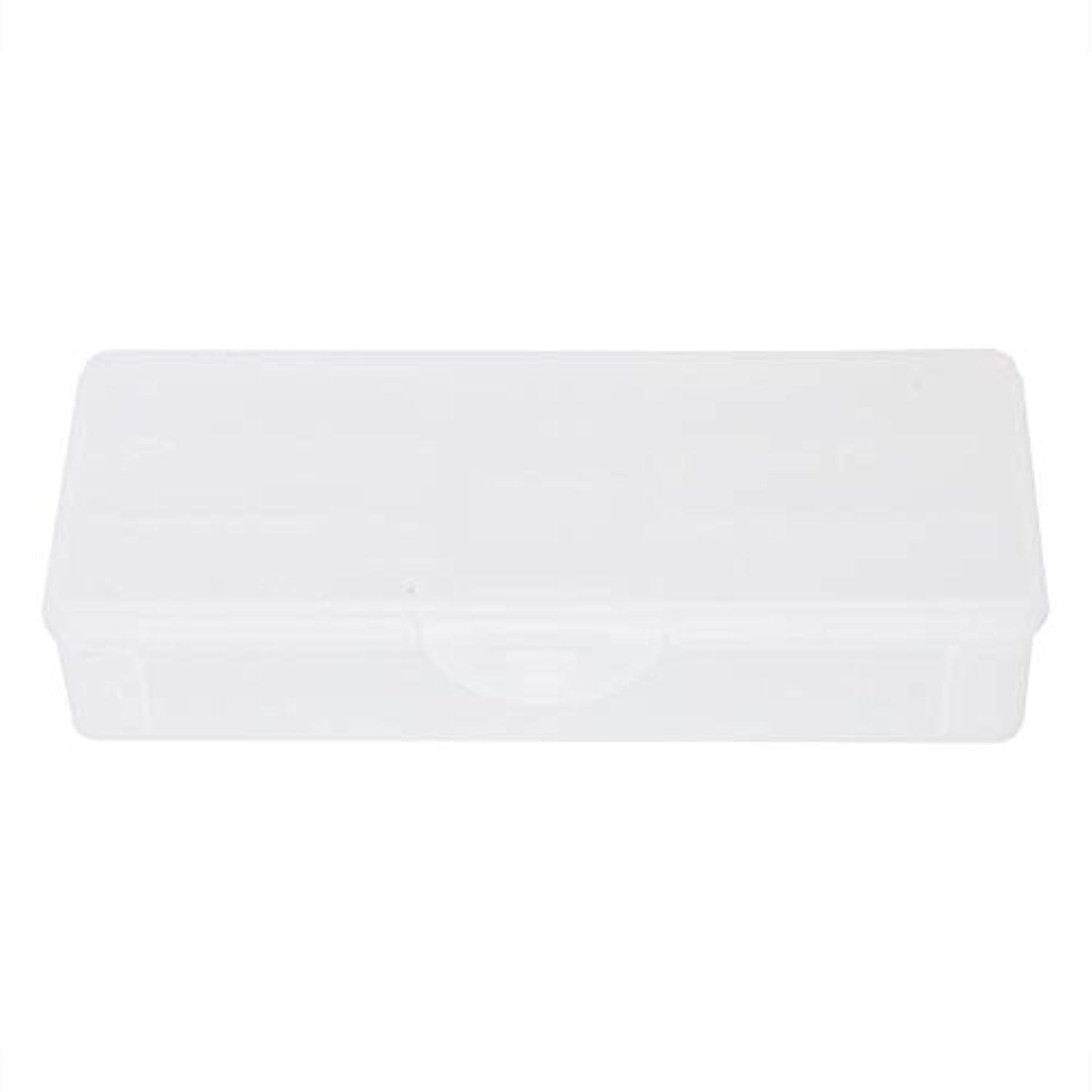 句君主制週間ポータブルプラスチック透明二重層マニキュアネイルツール-空の収納ボックスケースコンテナオーガナイザー