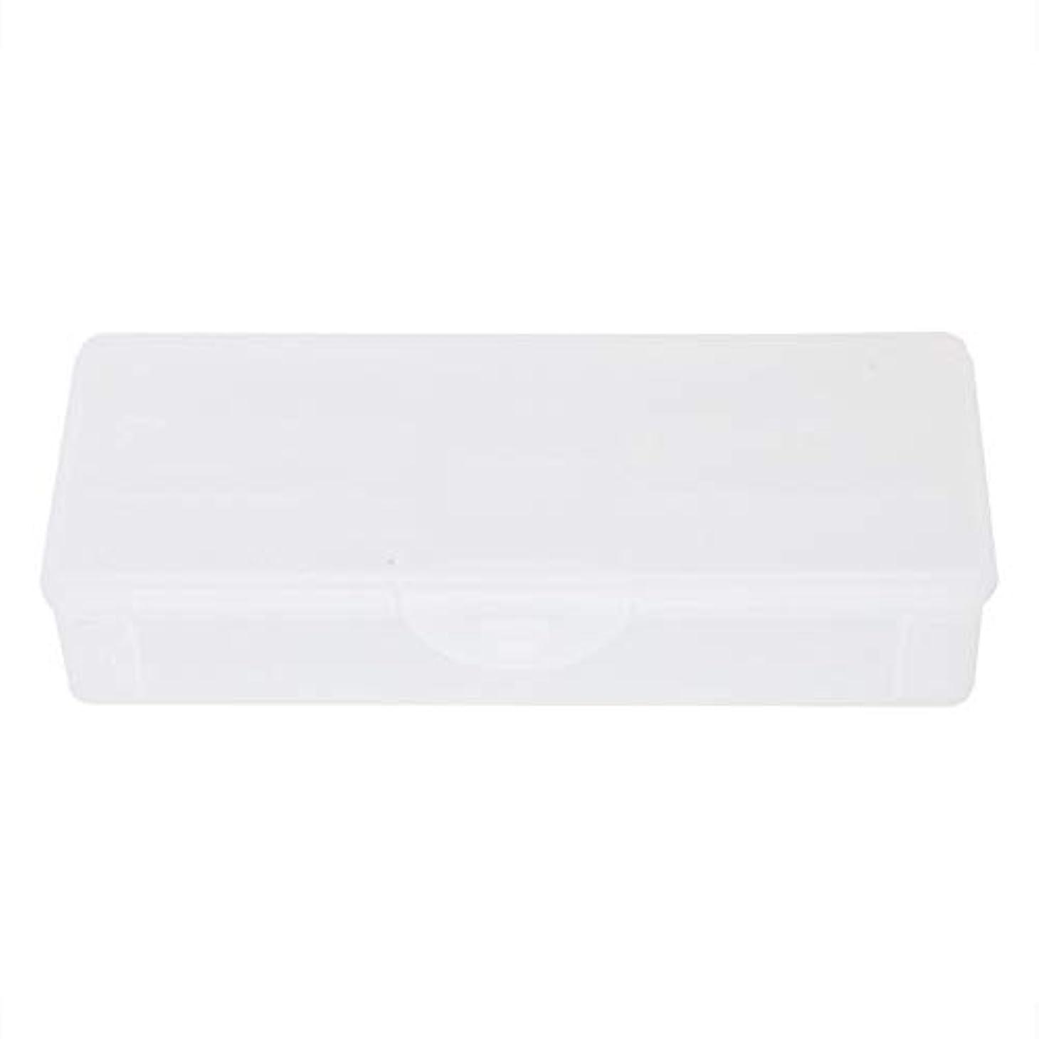 ラフ価値クラッシュポータブルプラスチック透明二重層マニキュアネイルツール-空の収納ボックスケースコンテナオーガナイザー