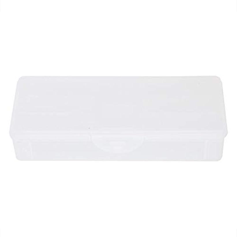 付ける要求ハブポータブルプラスチック透明二重層マニキュアネイルツール-空の収納ボックスケースコンテナオーガナイザー