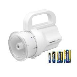 パナソニック LEDライト 電池がどれでもライト 本体色:白 電池付 単1形から単4形を1本ずつ同梱 BFBM10KW