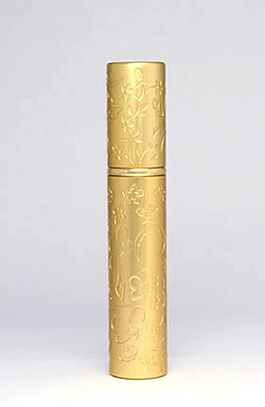逆さまに放置読みやすいパースメタルアトマイザーハンドワーク エッチング花壇 ゴールド