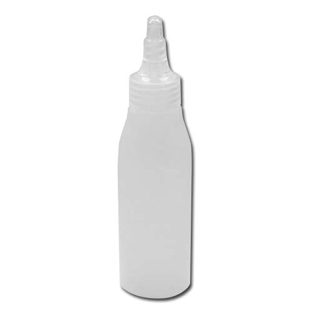 マイクロフォン士気分析的詰め替え容器100ml 半透明 ツイストキャップ 滑らかなボトルライン ノズル式│シンプル ボディーソープ ローション等の詰替に 小分け 化粧品