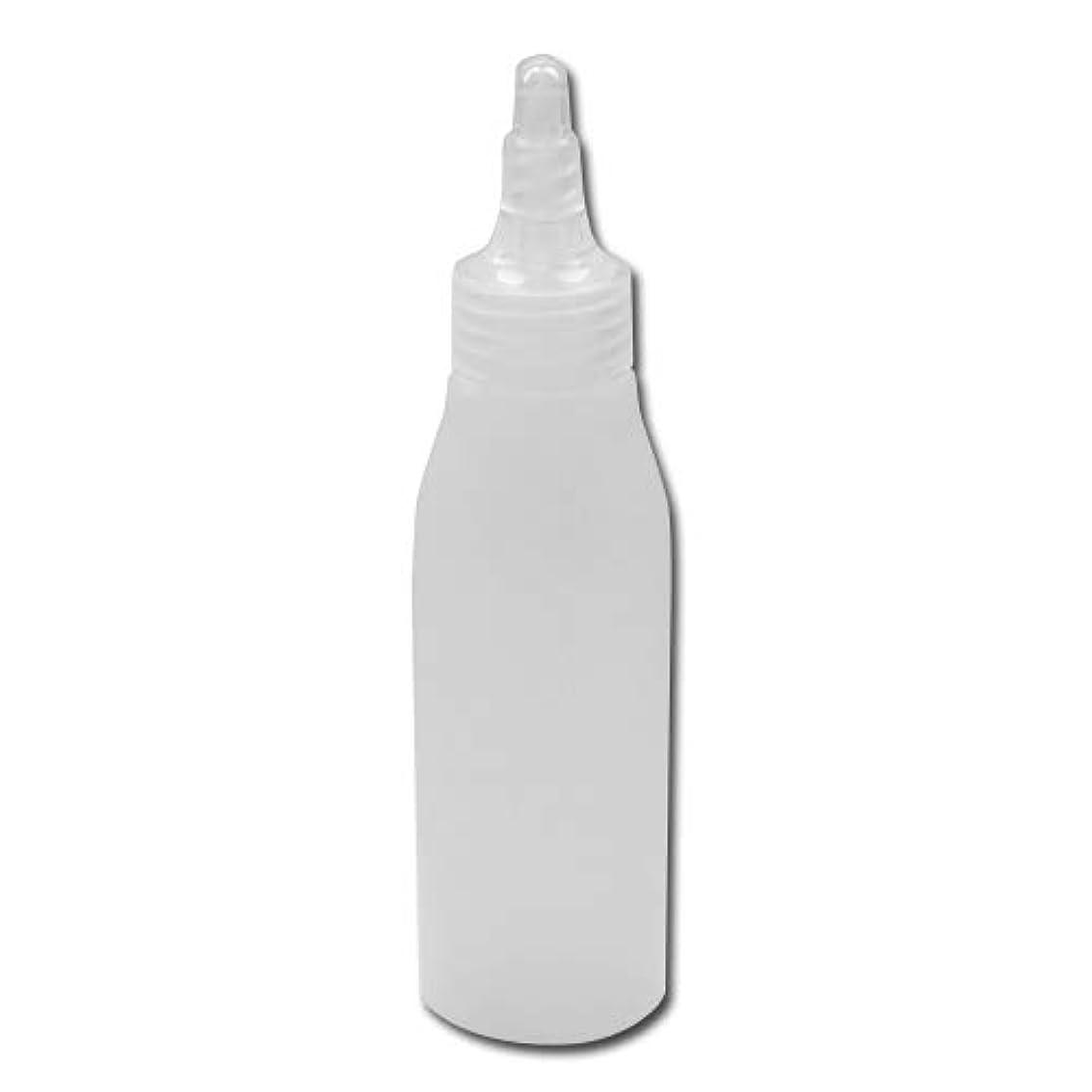湿地それぞれ特徴づける詰め替え容器100ml 半透明 ツイストキャップ 滑らかなボトルライン ノズル式│シンプル ボディーソープ ローション等の詰替に 小分け 化粧品