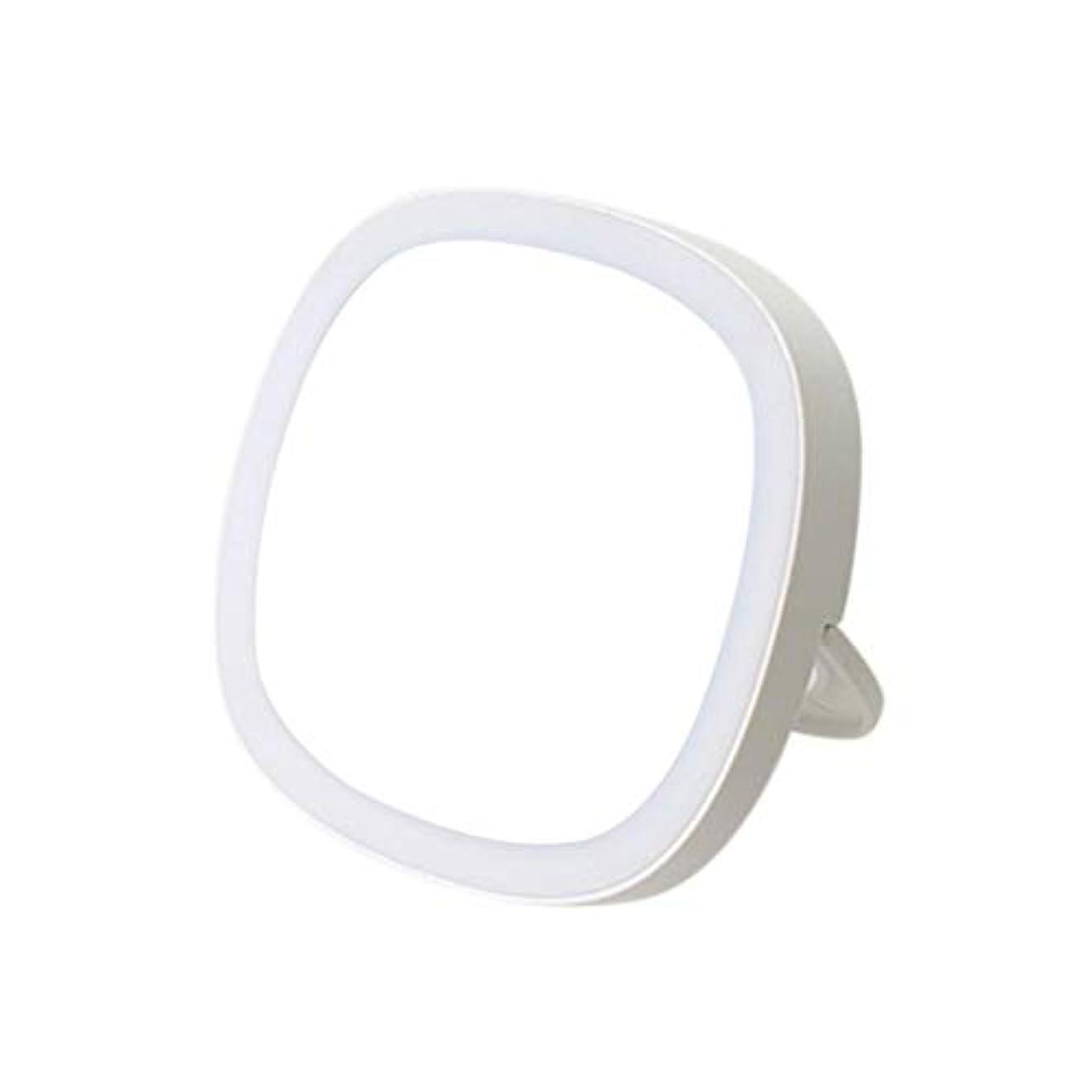 ループ浴室まあ鏡 卓上 化粧鏡 LEDの浴室鏡 化粧ミラー ミラー ライト 携帯用 美の盛り土ライトが付いている スマートな手持ち型 夜間照明の化粧鏡 キャンディポータブルメイクアップミラー 浴室用