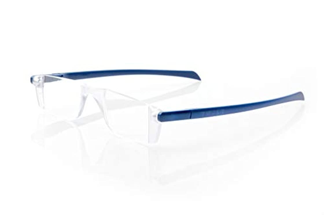 卒業彼女自身ボートTWIST(ツイスト) コンパクト 折りたたみ 老眼鏡 リーディンググラス (ネイビー +2.50)