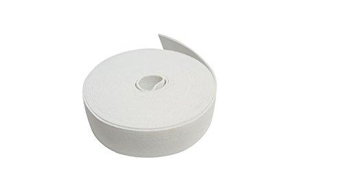 LAttice 幅2.5CM×長5M ホワイト ニット ストレッチ エラスティック バンド 縫い付け用