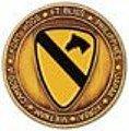 1st CavエナメルChallenge Coin