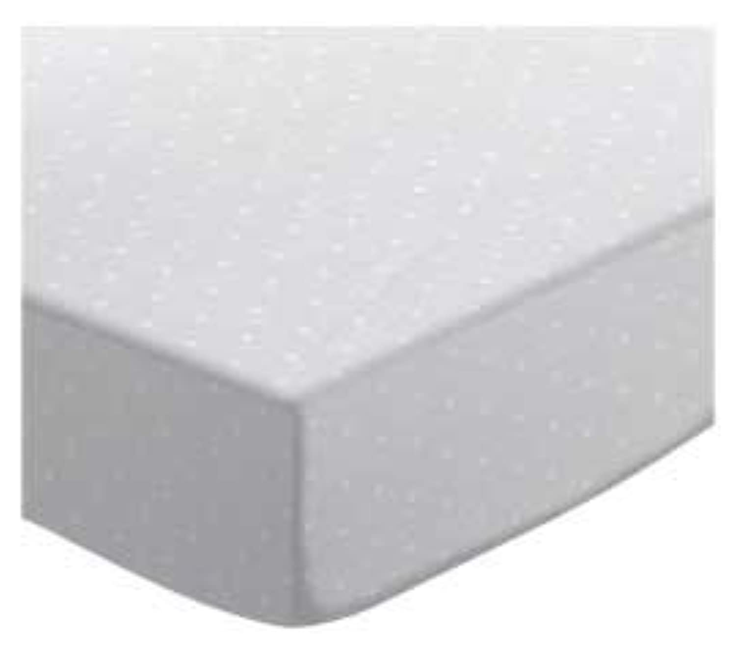 SheetWorld Fitted Crib / Toddler Sheet - White Swiss Dot Jersey Knit - Made In USA by sheetworld