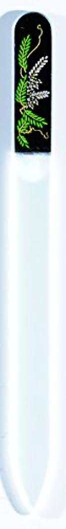 高齢者カレッジ意外橋本漆芸 ブラジェク製高級爪ヤスリ 四月 藤 OPP