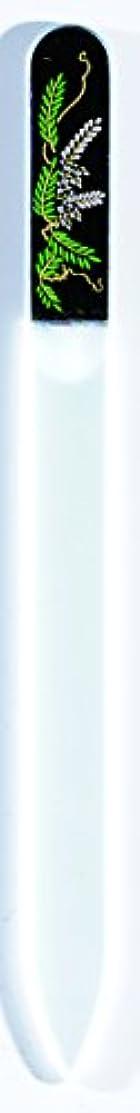 レイア海上成人期橋本漆芸 ブラジェク製高級爪ヤスリ 四月 藤 OPP