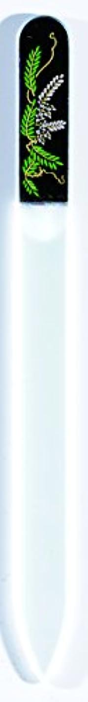 ラインナップラビリンス滅多橋本漆芸 ブラジェク製高級爪ヤスリ 四月 藤 OPP
