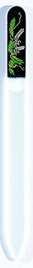 ファイバ絶対にゆりかご橋本漆芸 ブラジェク製高級爪ヤスリ 四月 藤 OPP