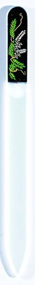 ヘクタール植生争い橋本漆芸 ブラジェク製高級爪ヤスリ 四月 藤 OPP