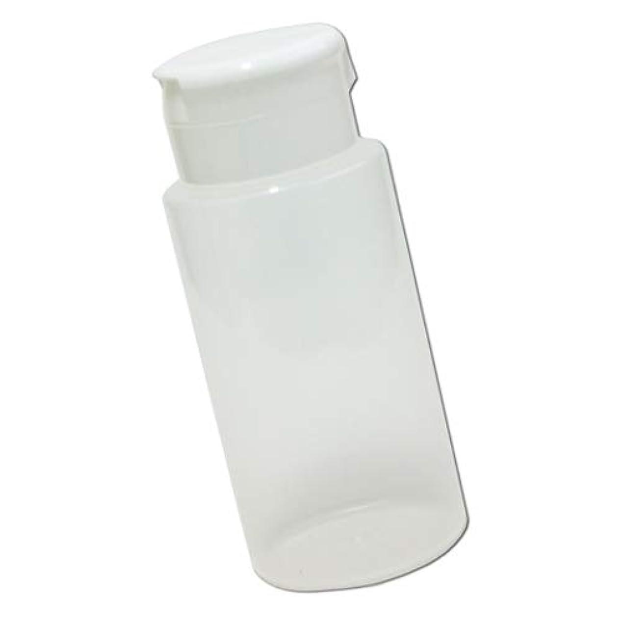 三角全体実際にワンタッチキャップ詰め替え容器370ml│業務用ローションやうがい薬、液体石鹸、調味料、化粧品の小分けに詰め替えボトル