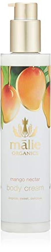 より平らなボトル権利を与えるMalie Organics(マリエオーガニクス) ボディクリーム マンゴーネクター 222ml
