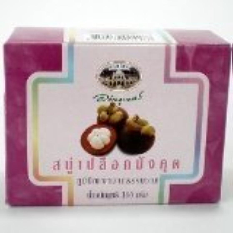 プレートサスティーンほこりっぽい新しいabhabibhubejhr Mangosteen Peel Soap 100 g