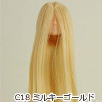 オビツボディ 27cmボディ用植毛ヘッド01 ナチュラル ミルキーゴールド
