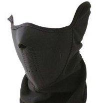 ネオプレン マスク 首 顔 保護 バイク スキー 用 フリース 素材 保温 ハーフマスク Half Face Mask