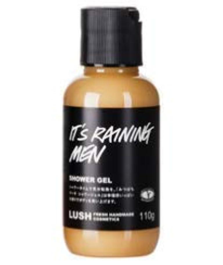 堤防せせらぎ沼地LUSH ラッシュ みつばちマーチ シャワージェル It's Raining Men 甘い香り 浴用化粧品 ボディソープ 自然派化粧品 天然成分 ベルガモット ハチミツ (110g)
