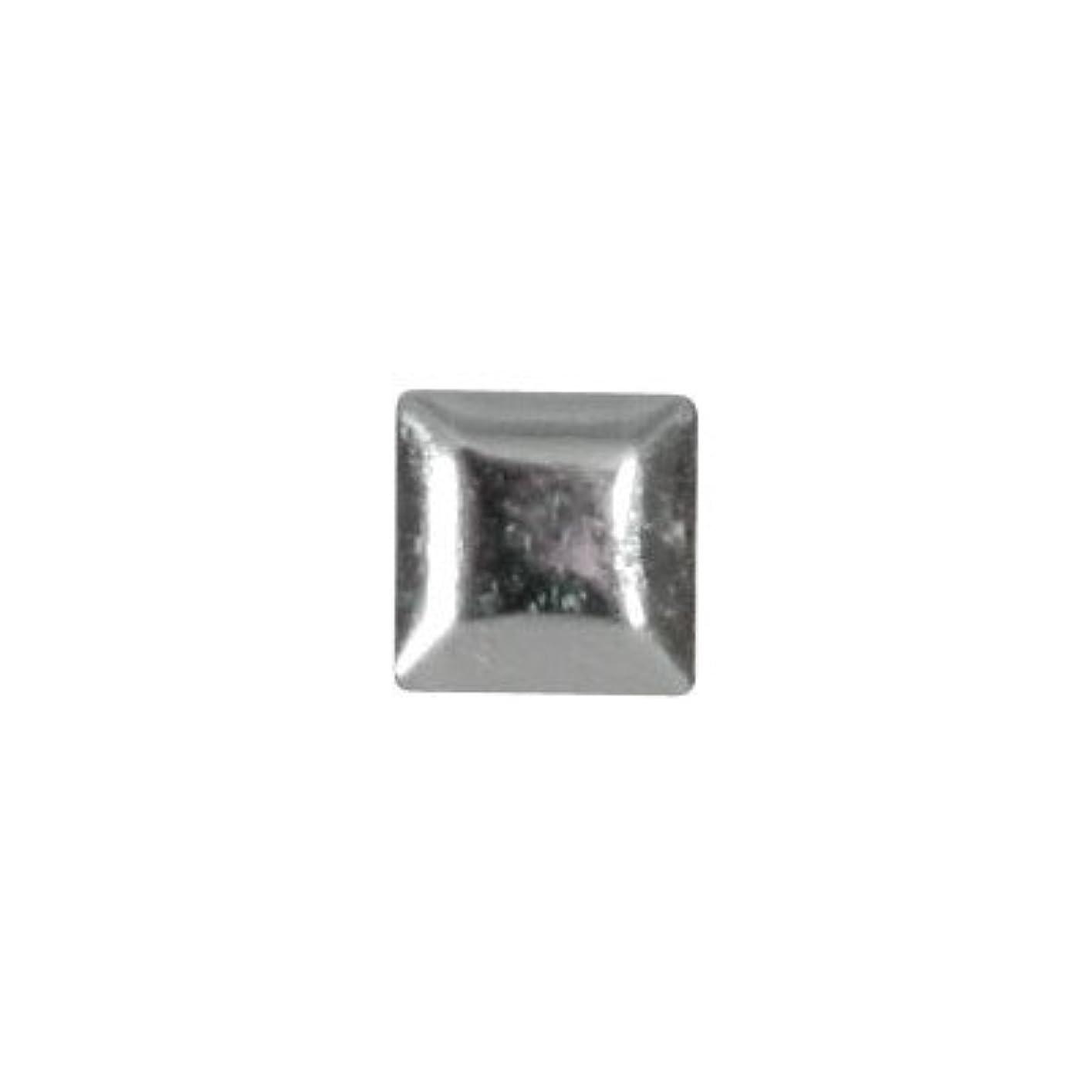 ダメージマーチャンダイザークランプピアドラ スタッズ メタルスクエア 3mm 50P シルバー
