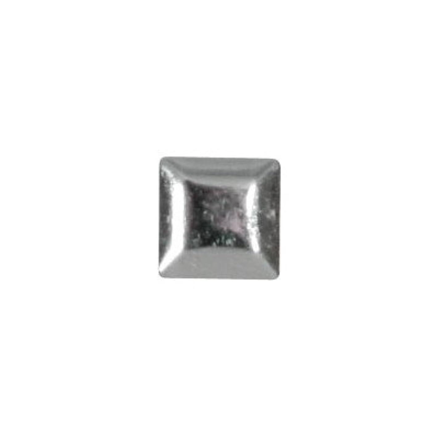 イディオム肌寒いオークピアドラ スタッズ メタルスクエア 3mm 50P シルバー