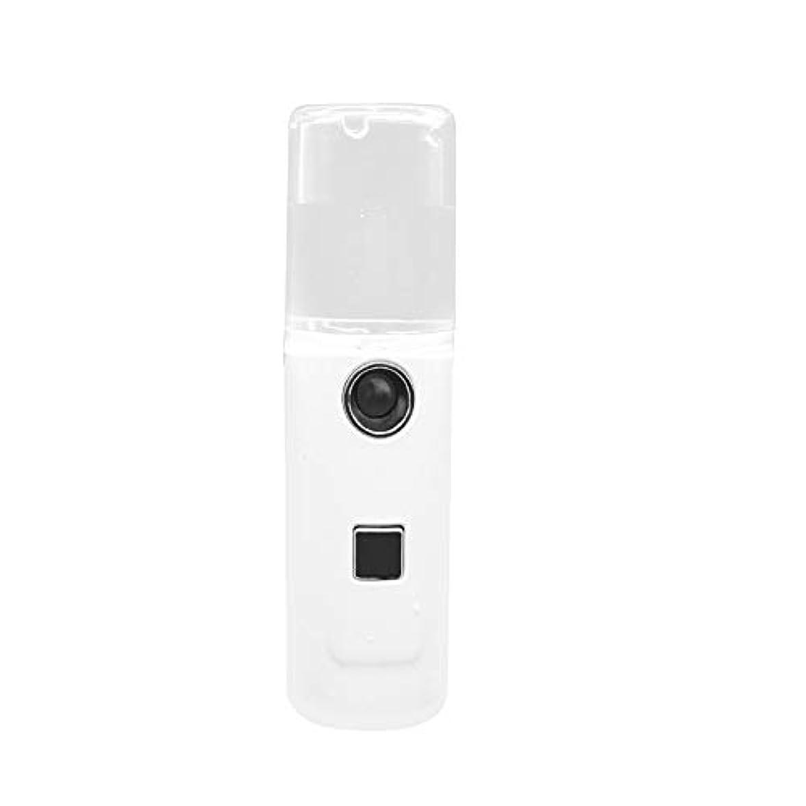 マイナーレザー感情のIku夫 使いやすいナノスプレー保湿器美容保湿器加湿器車用スプレーヤーUSB充電トレジャーモイスチャライザーホワイト透明