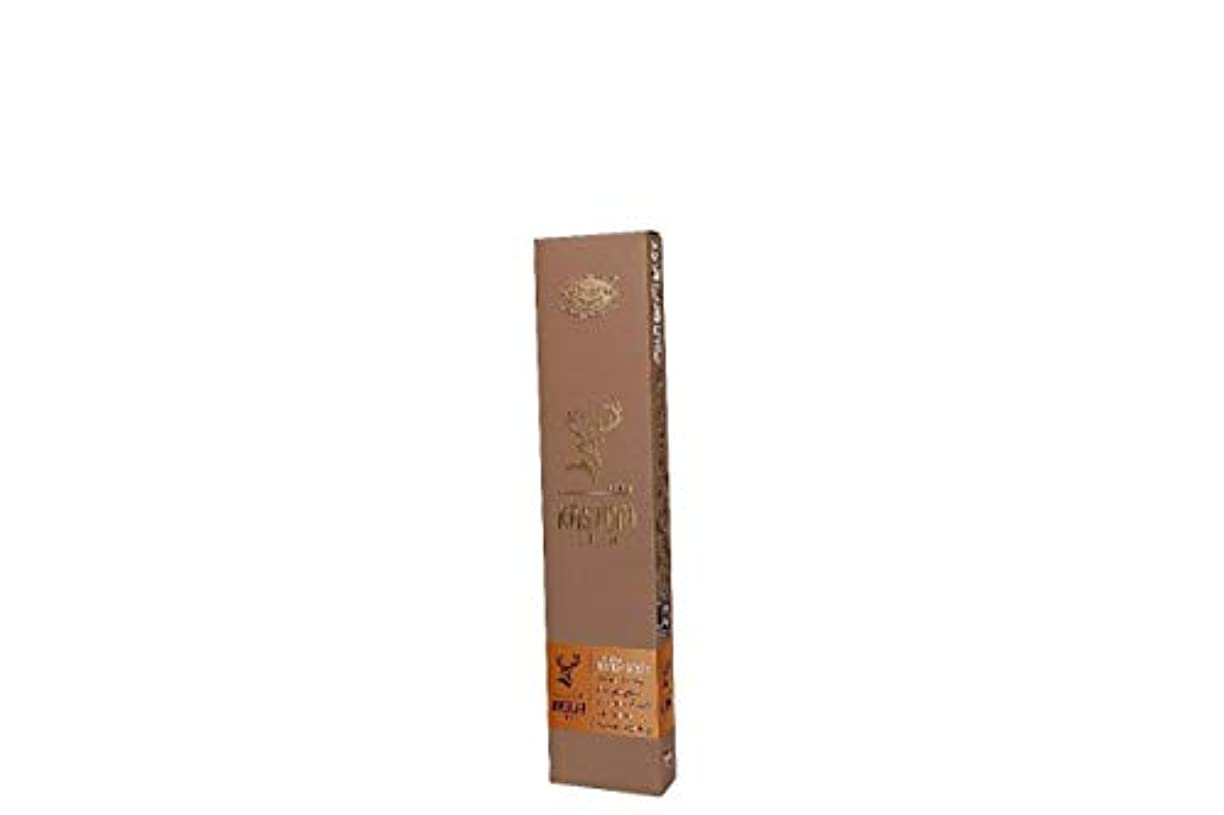 状花瓶例示するVeeana Kasturi Gold Light Brown Eco Incense Stick 50gm