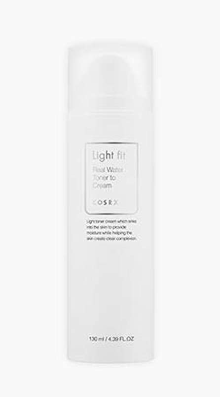 自信がある治療スポーツマン[COSRX] Light fit Real Water Toner To Cream 130ml [並行輸入品]