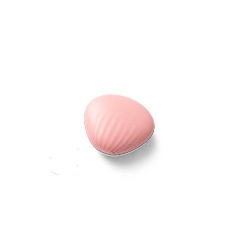 Antun 電気カイロ USB充電 モバイルバッテリー機能付 貝殻型 (ピンク)
