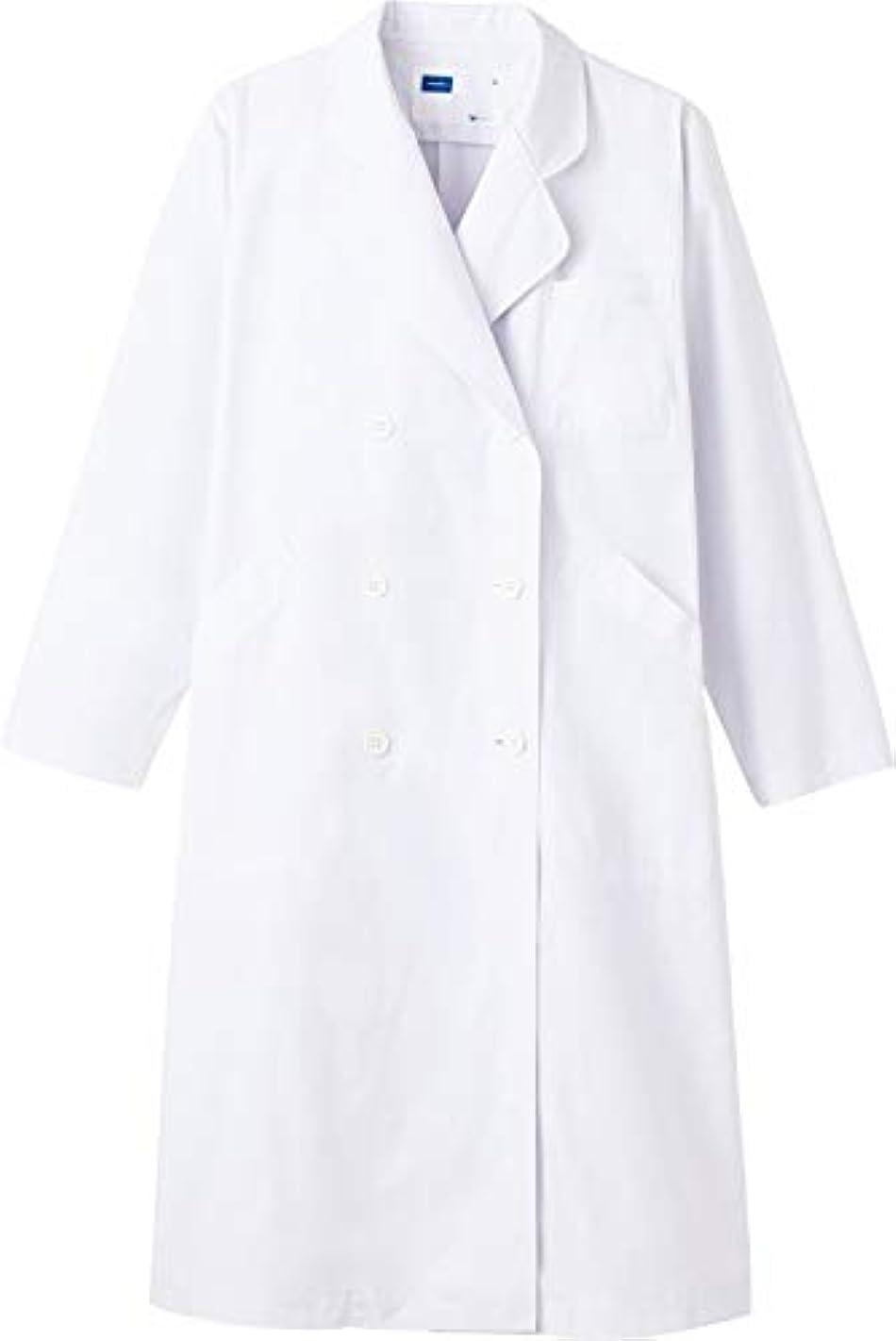 一酔ったハンバーガー白衣 ドクターコート レディース ダブル 白 LL WH2214