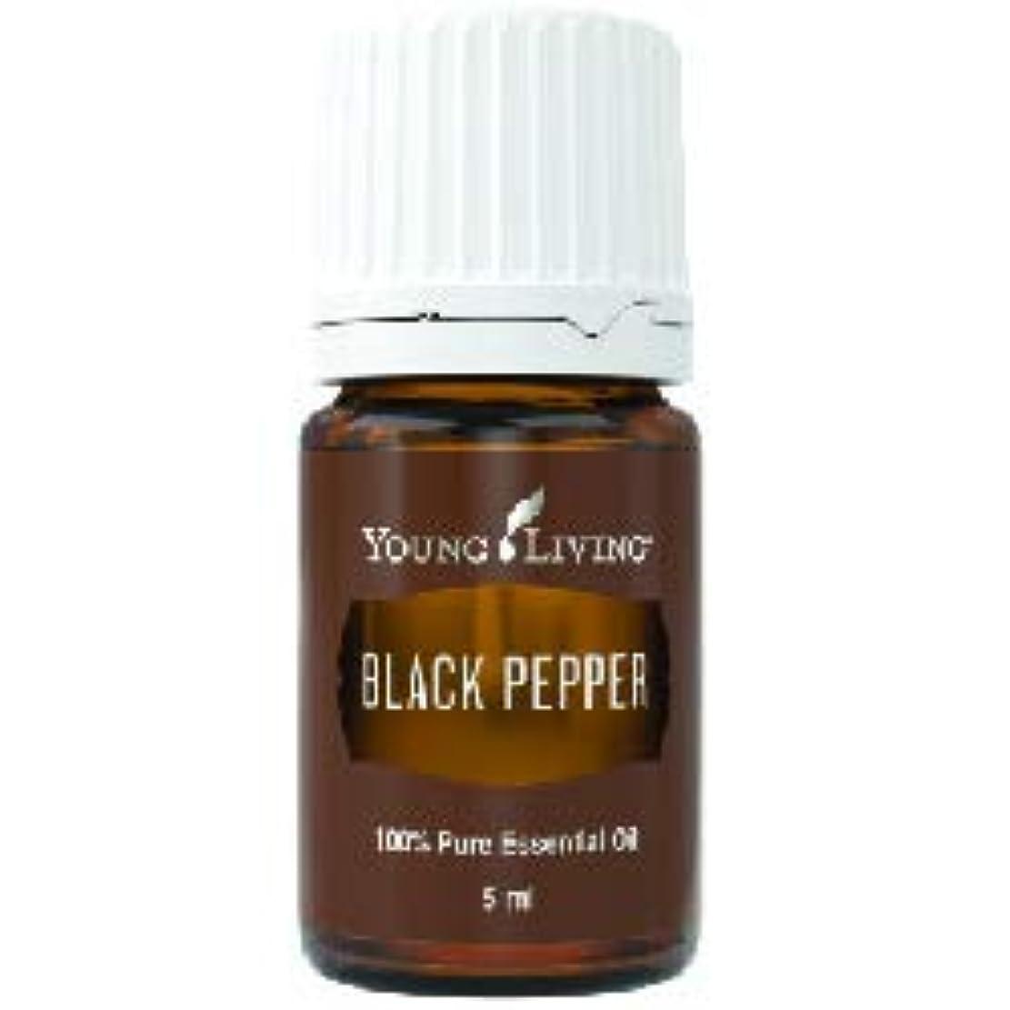 粉砕する木製ベイビーブラックペッパーエッセンシャルオイル 5 ml byヤングリビングエッセンシャルオイルマレーシア Black Pepper Essential Oil 5 ml by Young Living Essential Oil...