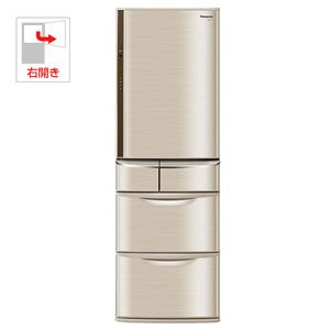 パナソニック 427L 5ドア ノンフロン冷蔵庫(シャンパン)Panasonic ECO NAVI NR-E434T-N