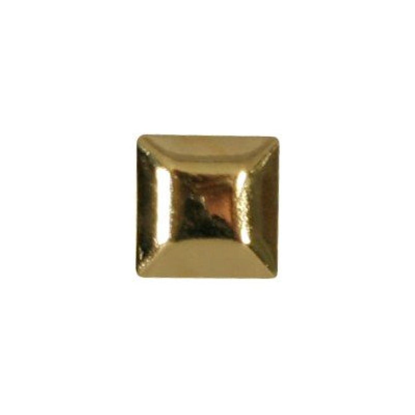 人工正規化エコーピアドラ スタッズ メタルスクエア 4mm 30P ゴールド