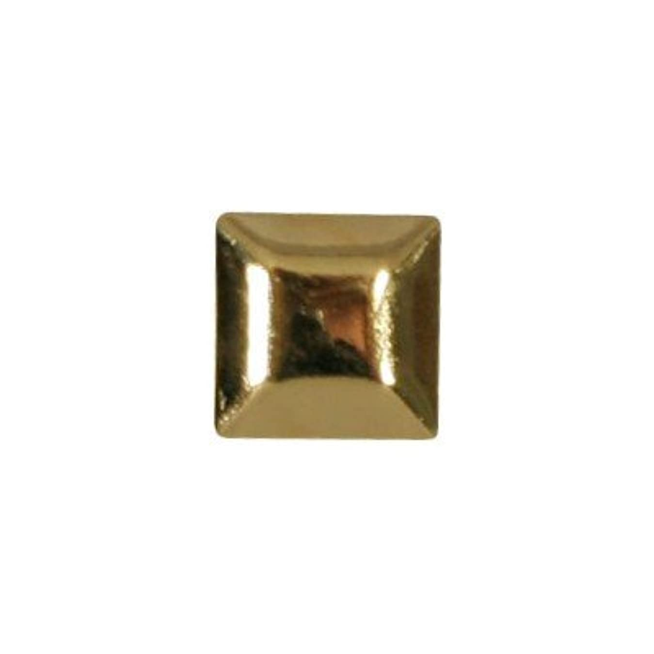 女優ここに説得ピアドラ スタッズ メタルスクエア 4mm 30P ゴールド