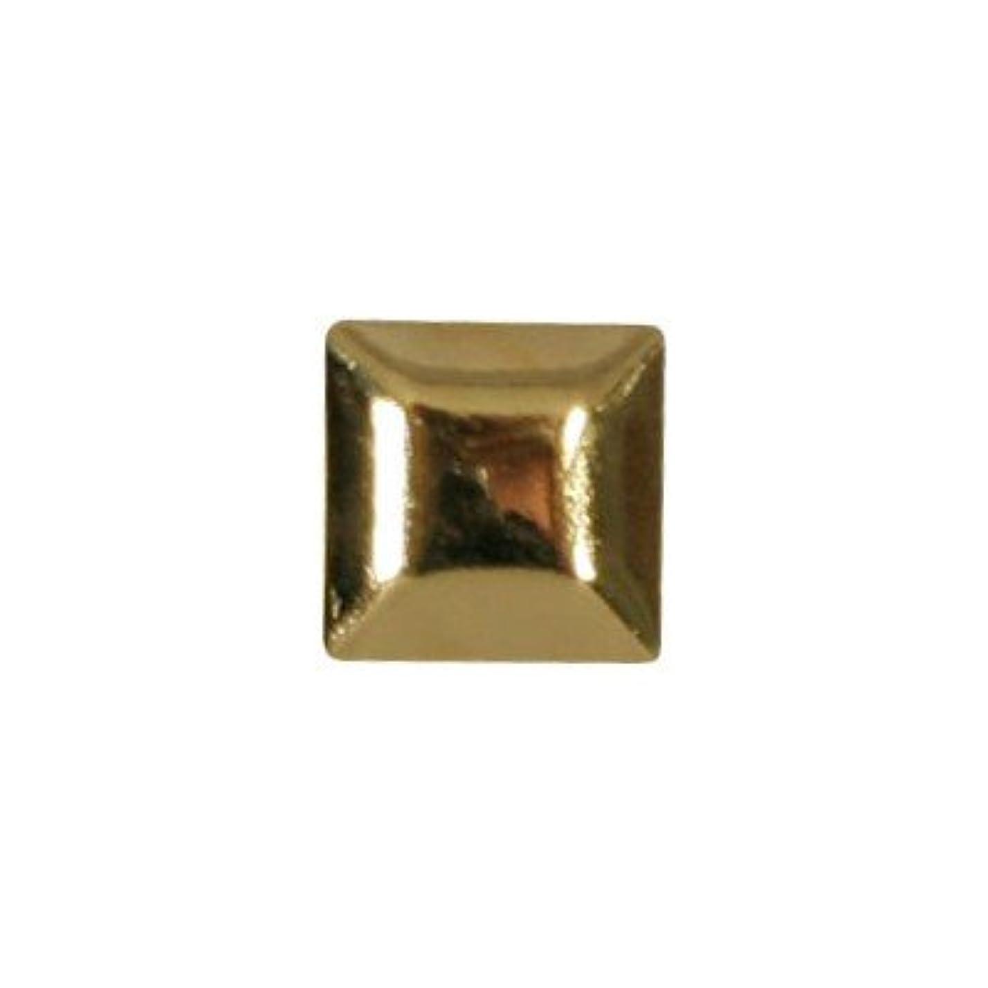 規制する脇に小さいピアドラ スタッズ メタルスクエア 4mm 30P ゴールド
