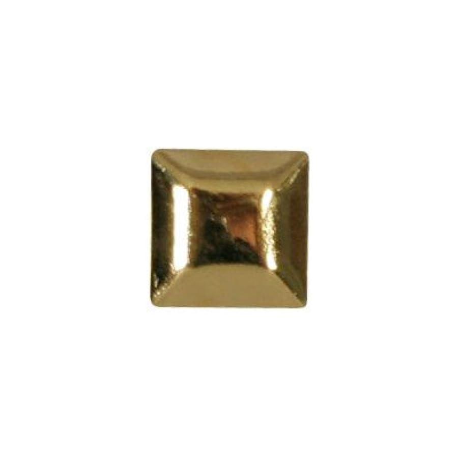 推進、動かすクラウン舌なピアドラ スタッズ メタルスクエア 4mm 30P ゴールド