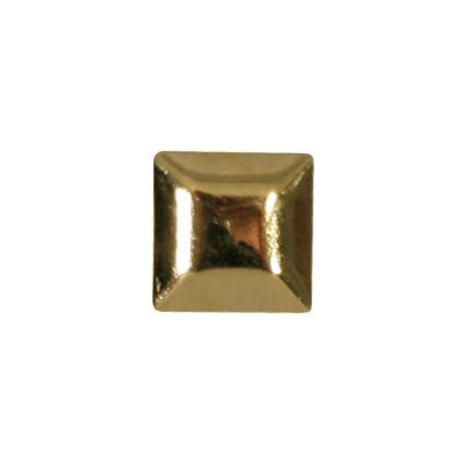 騒々しい代表する皿ピアドラ スタッズ メタルスクエア 4mm 30P ゴールド