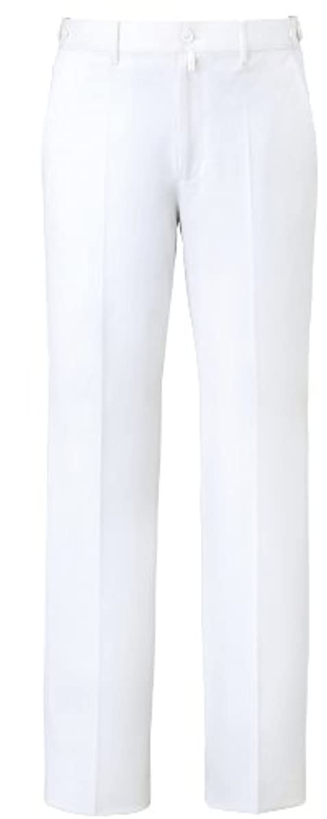 光アジアライフル[ミズノ] MIZUNO 【制菌/吸汗速乾/透防止/制電/医療/白衣/診察衣】 男性用 パンツ MZ-0071 (L , ホワイト)